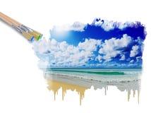 Sunny tropical beach on the island Royalty Free Stock Photo