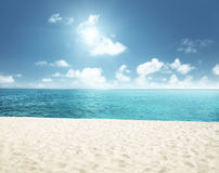 Sunny tropical beach Royalty Free Stock Images