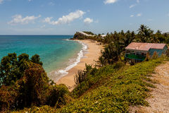 Sunny Tropical Caribbean Beach Landscape Stock Photos