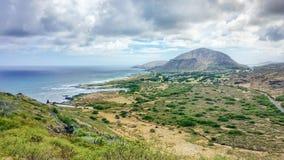 Sunny Tropical Coastal Landscape Fotografia Stock Libera da Diritti