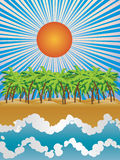 Sunny tropical island Royalty Free Stock Photo