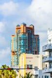 Sunny tropical streets of Miami Stock Photo
