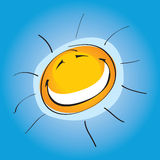 sunny uśmiechnięta ilustracja wektor