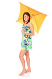 Sunny umbrella Royalty Free Stock Photography
