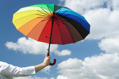 Sunny umbrella Stock Photos
