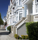 Sunny victorian houses in San Francisco Royalty Free Stock Photography