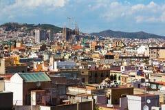 Sunny view of Barcelona city Royalty Free Stock Photos
