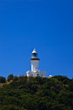 Sunny View of Byron Bay Lighthouse on Hill Royalty Free Stock Images