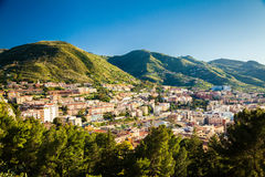 Sunny view of Cefalu residential district Stock Photo