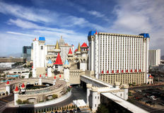 A sunny view of the Excalibur Hotel and Casino Royalty Free Stock Images