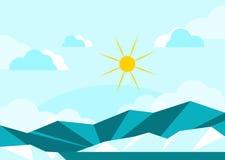 Sunny View landskap stock illustrationer