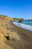 Sunny View On Empty Wild Rodeo Beach In California Stock Photography