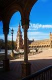 Sunny view of Plaza de Espana Stock Photo