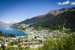 Sunny view of Queenstown Royalty Free Stock Images