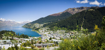 Sunny view of Queenstown Stock Images