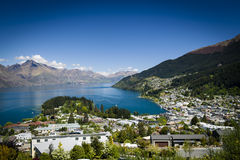 Sunny view of Queenstown Stock Photos