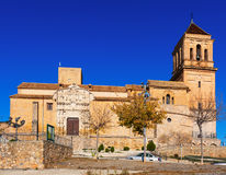 Sunny view of Santa Maria la Mayor in  Alcaudete Royalty Free Stock Image
