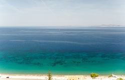 Sunny view on sea, Rhodes, Greece Royalty Free Stock Images