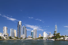 Sunny view of Surfers Paradise on the Gold Coast Royalty Free Stock Photo