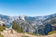 Sunny view of yosemite valley national park Royalty Free Stock Photography