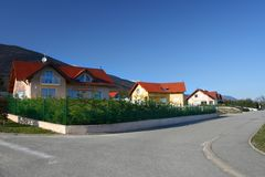 Sunny villa Stock Image