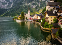 Sunny Village Hallstatt Royalty Free Stock Photography