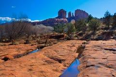 Sunny Vista de Sedona, o Arizona imagem de stock