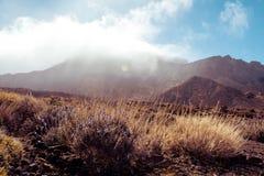 Sunny volcanic landscape, Teide, Tenerife Royalty Free Stock Photography