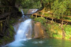 Sunny waterfall, Lazarevskoe Stock Photography