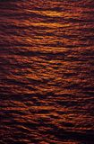 Sunny Waters. Sunset of Atlantic Ocean in northern Scotland Stock Image