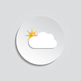 Sunny weather abstract icon. Vector Royalty Free Stock Photo