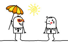 Sunny weather & accessories. Hand drawn characters royalty free illustration