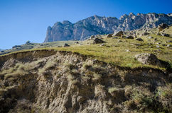Sunny weather in the Chegem gorge. In Kabardino-Balkaria Royalty Free Stock Images