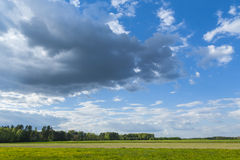 Sunny weather. Sunny day in the field, sunny weather stock photo