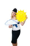 Sunny weather forecast royalty free stock photo
