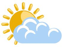 Sunny weather icon. Isolated sunny weather icon. Vector illustration design Stock Photography