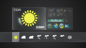 Sunny, Weather icon set animation. Weather icon set animation(included alpha&#x29 stock footage