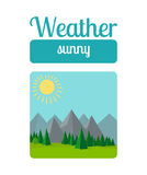 Sunny weather illustration Stock Photos