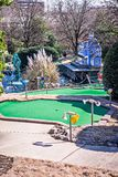 Sunny weather at mini golf course Royalty Free Stock Image