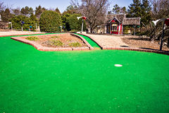 Sunny weather at mini golf course Stock Image