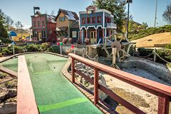 Sunny weather at mini golf course Stock Photography