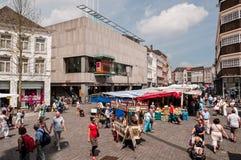 Sunny weekend in 's-Hertogenbosch Market Square Stock Photos