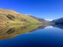Sunny Welsh lake Wales Royalty Free Stock Photography