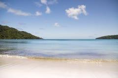 Sunny white beach. Saychelles islands. Royalty Free Stock Photo