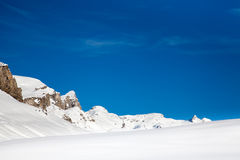 Sunny Winter Alps Royalty Free Stock Photos