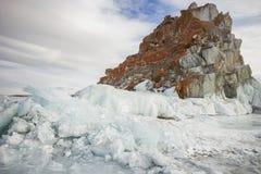 Sunny winter day at Baikal Lake Royalty Free Stock Image