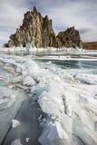 Sunny winter day at Baikal Lake Stock Image