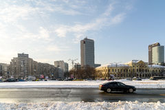 Sunny Winter Day Following A Strong Snow Storm In Downtown Bucharest City Royalty Free Stock Photo