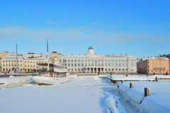 Sunny winter day in Helsinki Royalty Free Stock Images