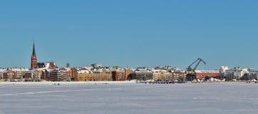A sunny winter day in Luleå Stock Photos